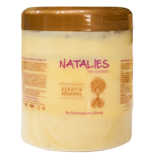 Μάσκα μαλλιών με κερατίνη και έλαιο Argan Natalies (1lt)